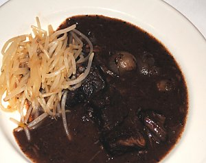 Beef Stew with Bean Sprouts