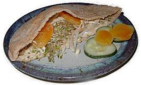 sprout pita sandwich