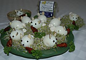 Easter Bunny Sprout Appetizers