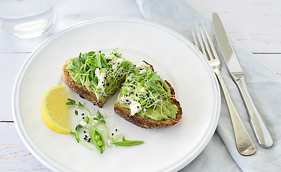 Avocado and Sprout Toast